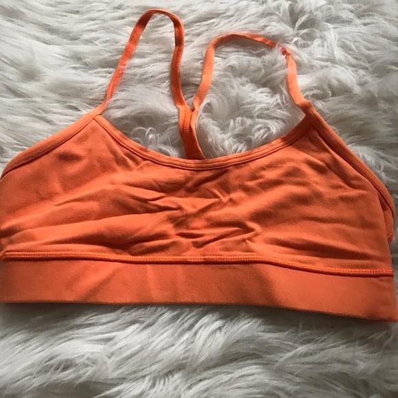 lululemon athletica Tops - Lululemon Sports bra orange size 4